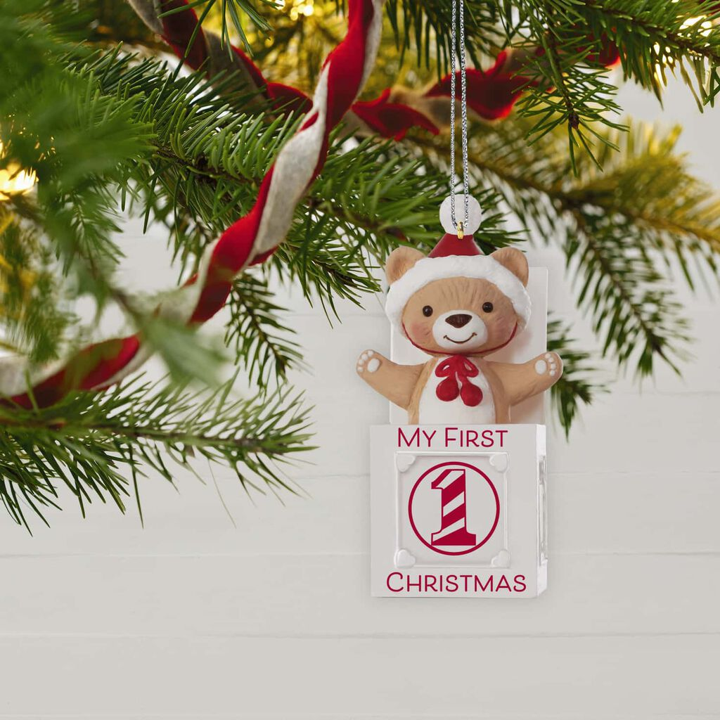 My First Christmas.My First Christmas Jack In The Box Bear 2019 Ornament