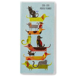 Artful Dogs and Cats Monthly Calendar Planner, 2018 – 2019, , large