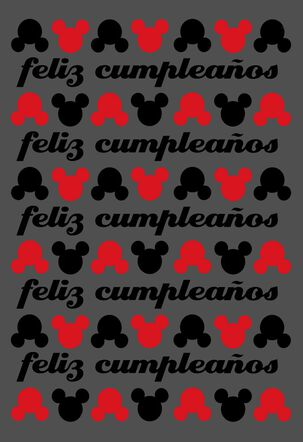 Mickey Mouse Large Spanish-Language Birthday Card, 12""