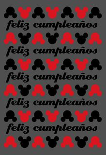 "Mickey Mouse Large Spanish-Language Birthday Card, 12"","