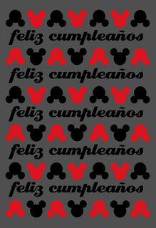 "Mickey Mouse Large Spanish-Language Birthday Card, 12"","