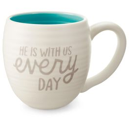 He Is With Us Ceramic Mug, 14 oz., , large