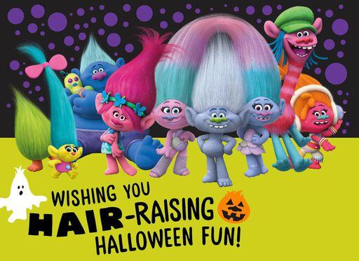 DreamWorks Trolls Poppy and Friends Halloween Card,