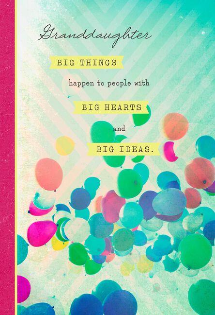 Big Ideas Big Heart Granddaughter Graduation Card Greeting Cards