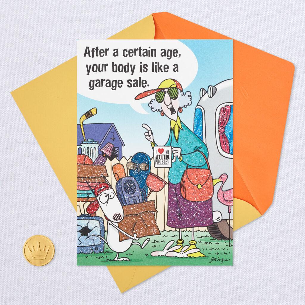 MaxineTM Aging Is Like A Garage Sale Funny Birthday Card