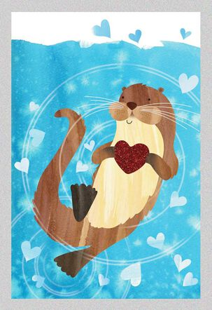 "You are Like No ""Otter"" Valentine's Day Card"