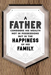 Your Family's Happiness Father's Day Card,