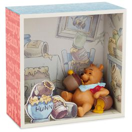 Winnie the Pooh and Honey Shadow Box With Figurine, , large