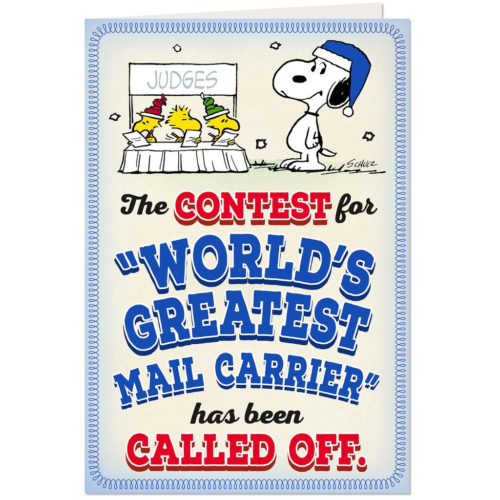 Peanuts® World\'s Greatest Mail Carrier Pop Up Christmas Card ...