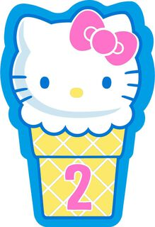Hello Kitty® Ice Cream Cone Spanish-Language 2nd Birthday Card,