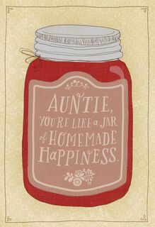 Jar of Homemade Happiness Birthday Card for Aunt,