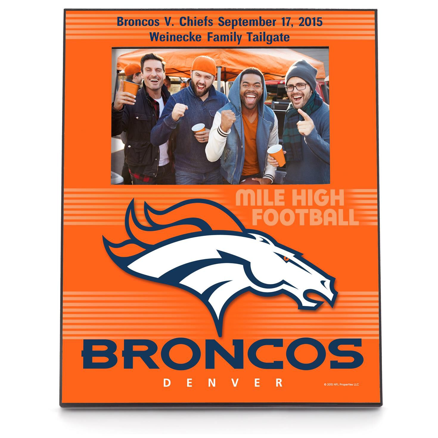 Denver broncos personalized 4x6 picture frame personalized home denver broncos personalized 4x6 picture frame personalized home decor hallmark jeuxipadfo Image collections