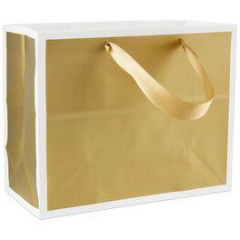 """Gold Medium Gift Bag, 7.75"""", , large"""