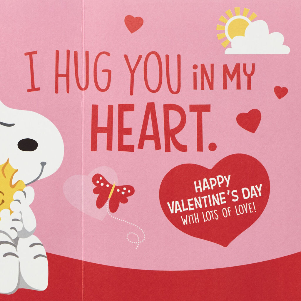 Peanuts Snoopy Hugs Valentines Day Card For Granddaughter