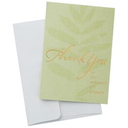 Plant on Green Sympathy Thank You Notes, Box of 20, , large