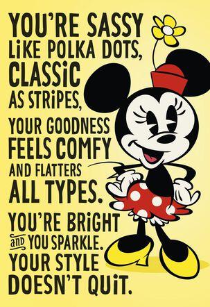 Disney Minnie Mouse Sweet Friend Like You Friendship Card