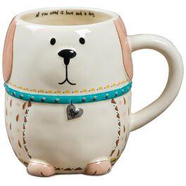 Natural Life Dog Folk Art Mug, , large