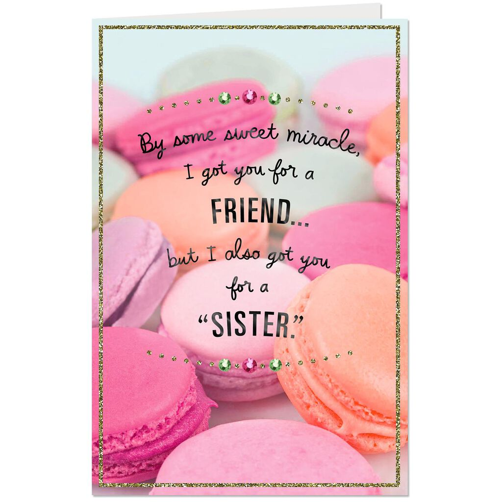 Love You Like A Sister Birthday Card For Friend Greeting Cards