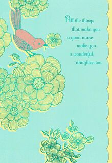Love and Pride for Nurse Daughter Nurses Day Card,
