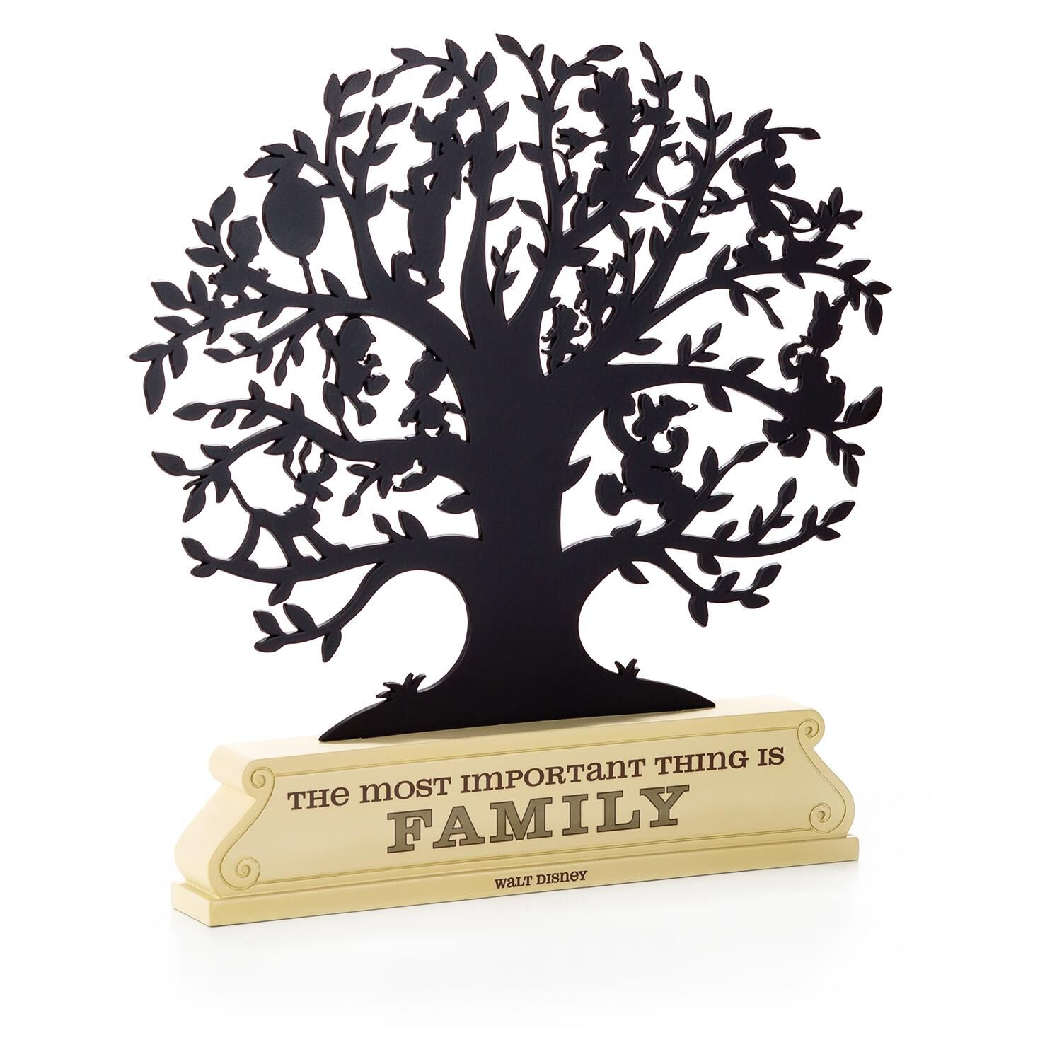 disney family tree silhouette decorative accessories hallmark