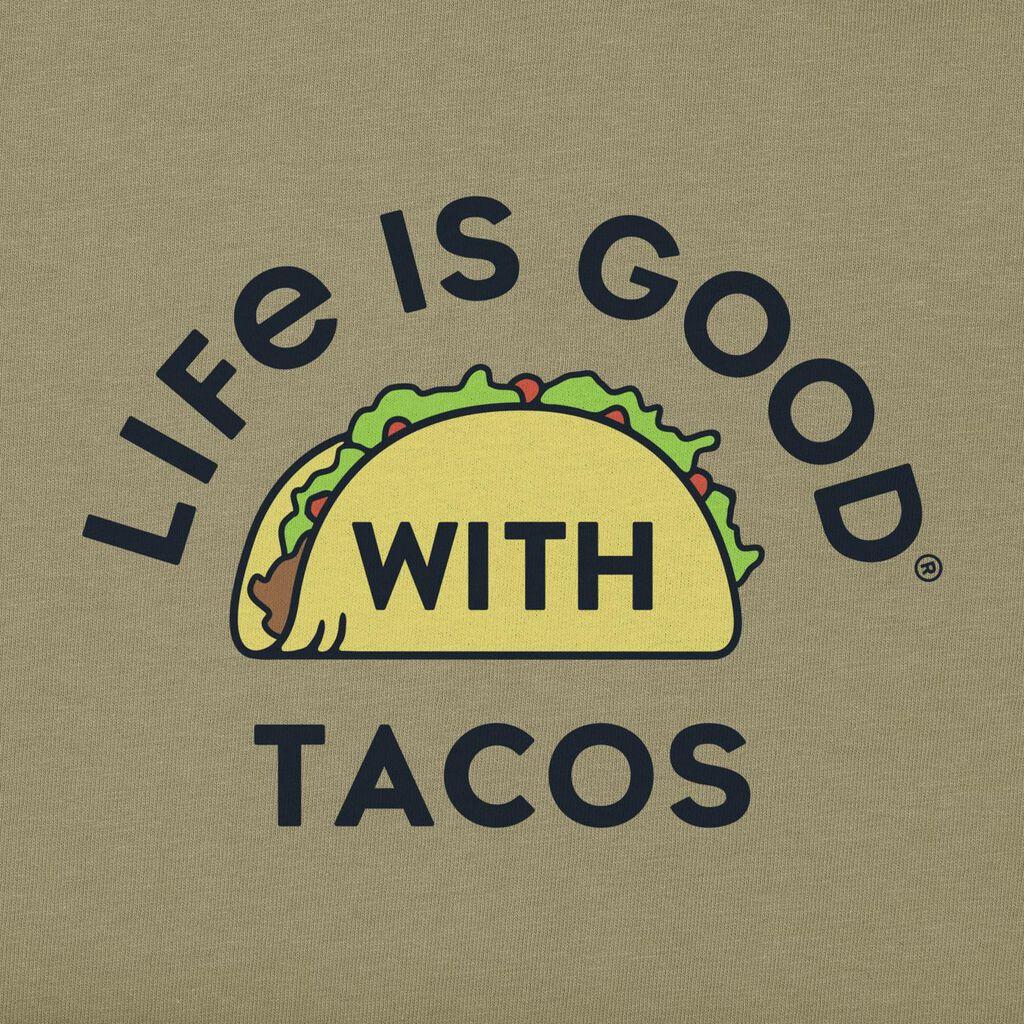 Life is Good Men's Tacos T-Shirt, Medium