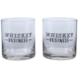 Whiskey Business Lowball Glasses, Set of Two, , large