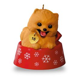 Puppy Love Pomeranian Ornament, , large