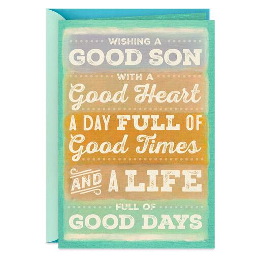 Its All Good Son Birthday Card