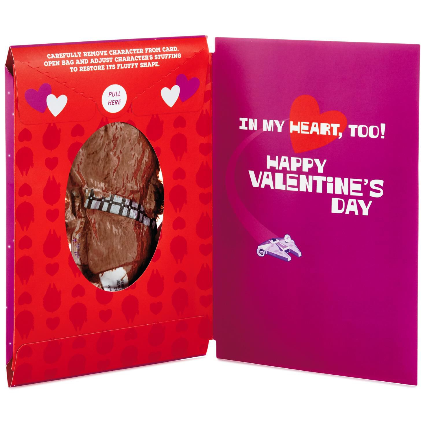 ... Itty Bittys® Star Wars™ Chewbacca™ Valentineu0027s Day Card With Stuffed  Animal
