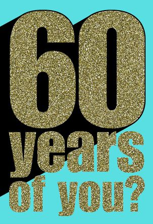 60 Years Strong Birthday Card
