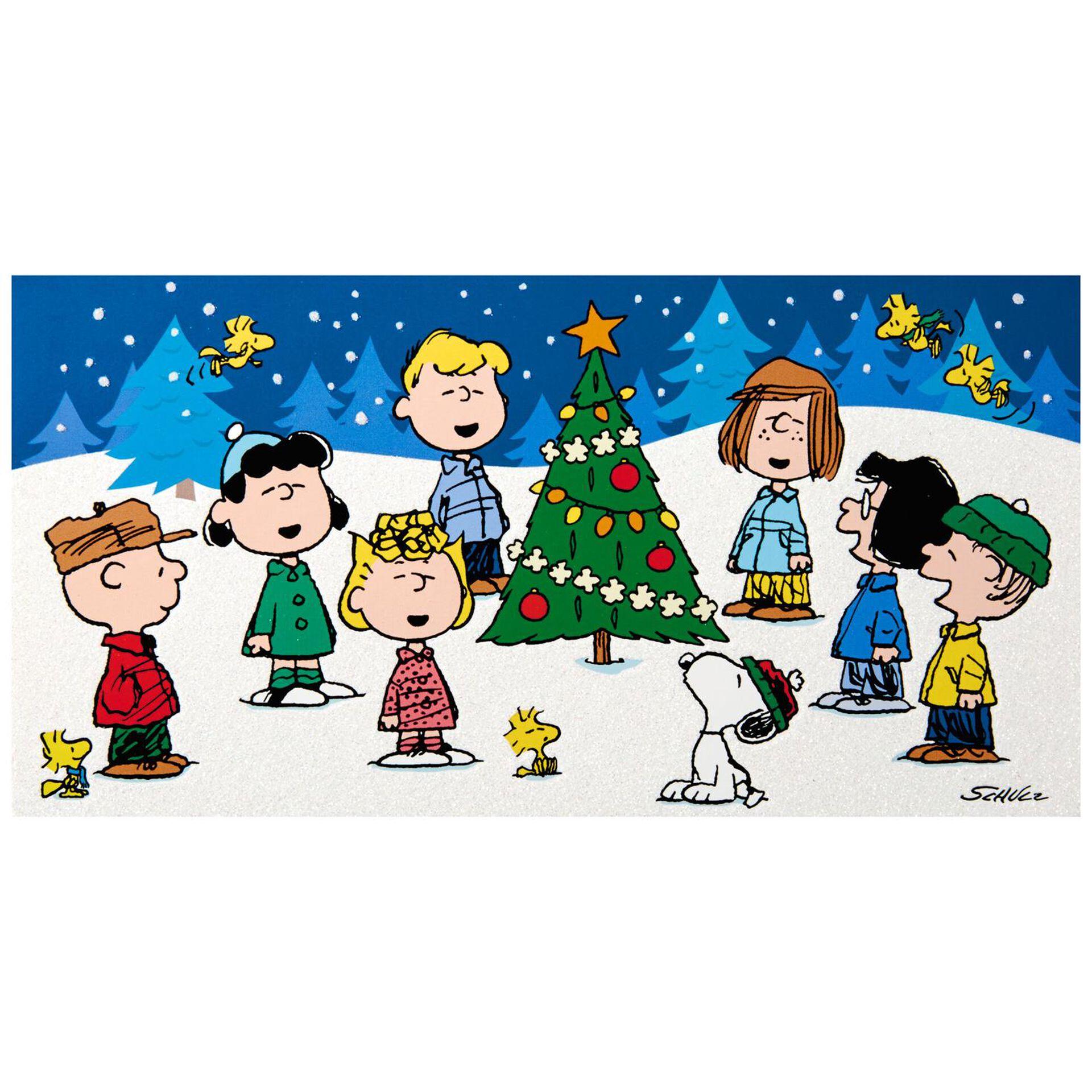 Peanuts Gang Caroling Christmas Cards Box Of 16 Boxed Cards Hallmark