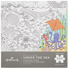 Under the Sea 550-Piece Coloring Puzzle, , large
