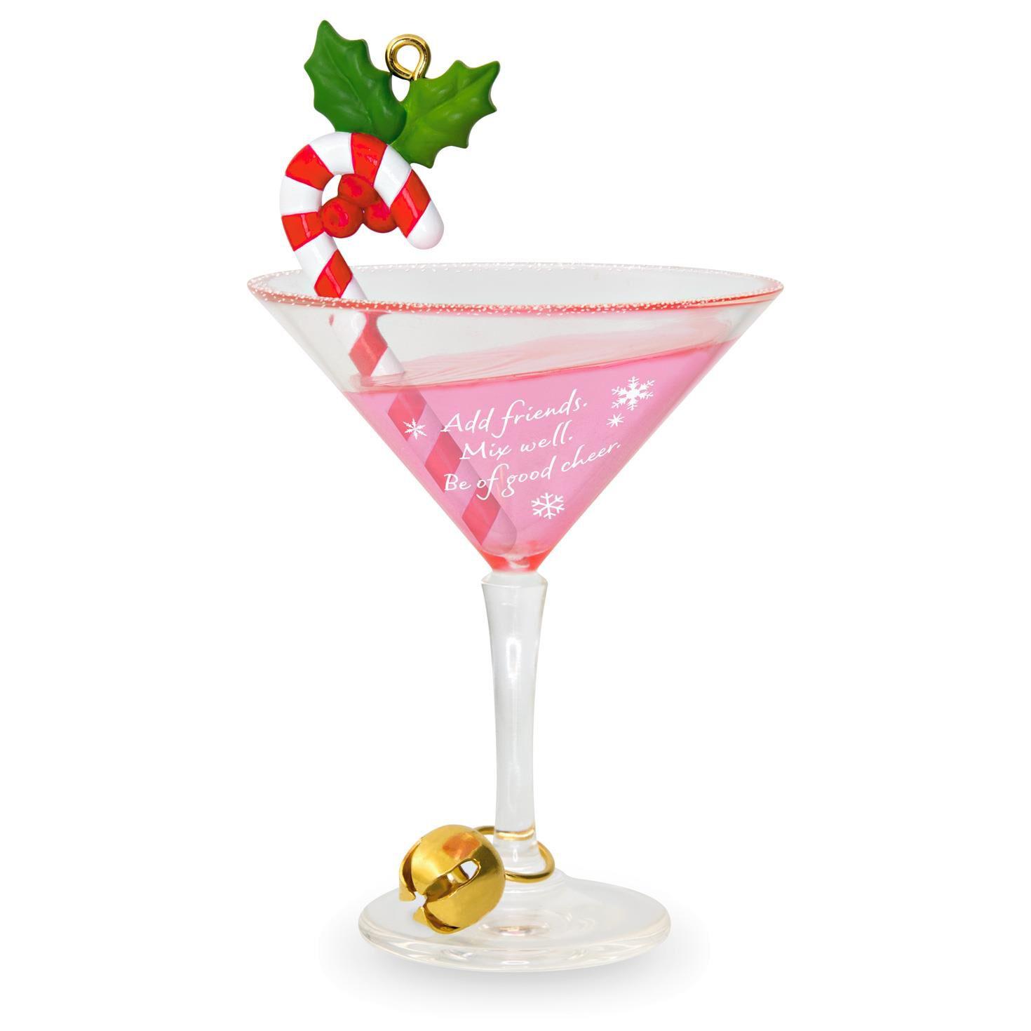 Glass candy cane ornaments - Festive Candy Cane Drink Ornament Keepsake Ornaments Hallmark