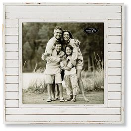 Mud Pie® White Wood Square 10x10 Picture Frame, , large
