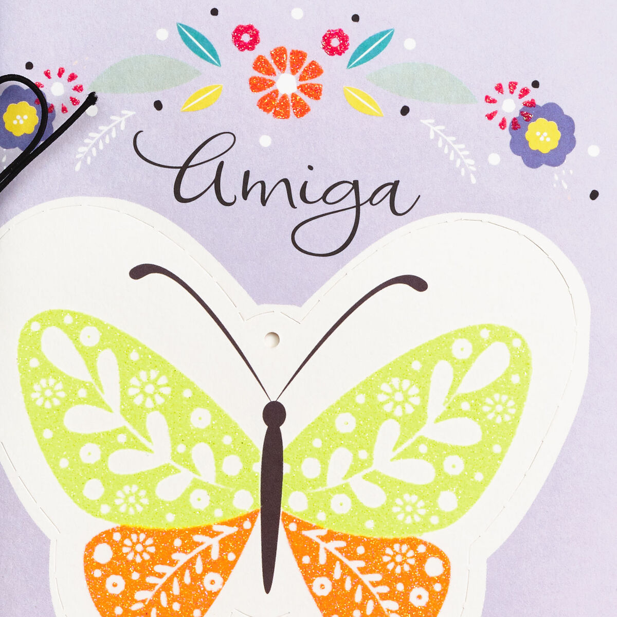beautiful butterfly spanishlanguage mother's day card for