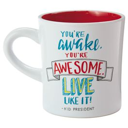 Kid President Awake and Awesome Mug, 12 oz., , large
