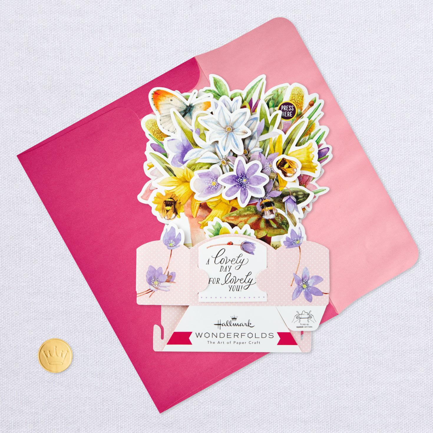 Happy Birthday Mother Teacup Flower Bouquet Marjolein Bastin Hallmark Card