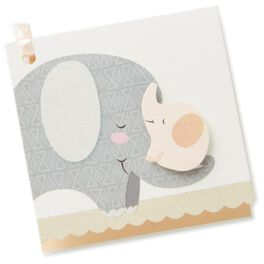 Elephants Gift Tag With Ribbon, , large