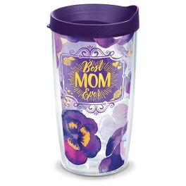 Tervis® Best Mom Ever Purple Pansies Tumbler, 16 oz., , large