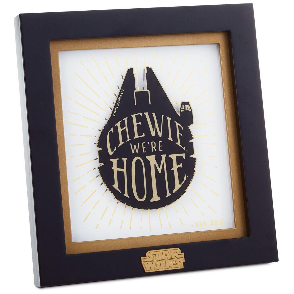 Star Wars Millennium Falcon Framed Print Plaques Signs Hallmark