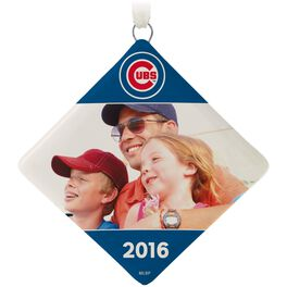 Chicago Cubs™ Ceramic Personalized Ornament, Diamond-Shaped, , large