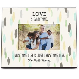 Love Is Everything Personalized 4x6 Picture Frame,