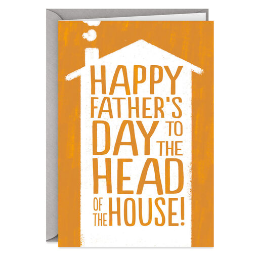 0deaa777 Head of the House Funny Father's Day Card for Husband, ...