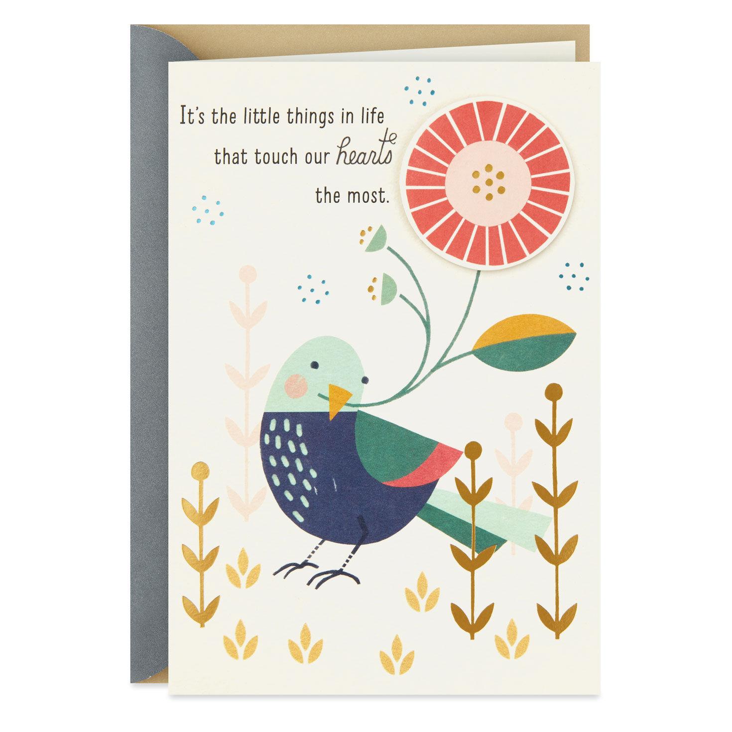 PEANUTS SNOOPY *THANKSGIVING* HALLMARK GREETING CARD *Thankful Word* NEW!