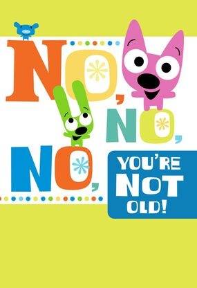 HoopsyoyoTM Youre Not Old Birthday Card With