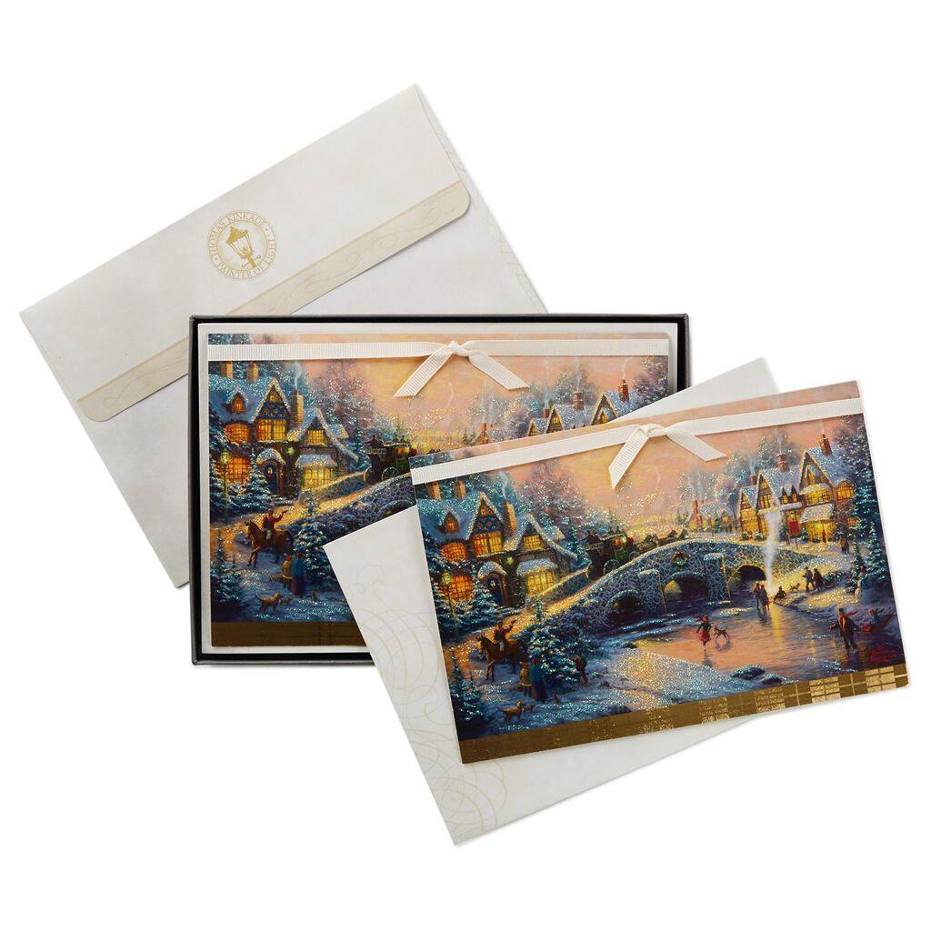 Thomas Kinkade Holiday Village Christmas Cards, Box of 12 - Boxed ...