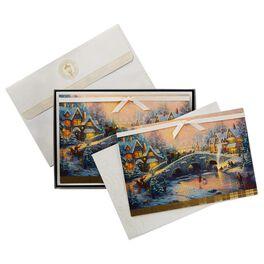 Thomas Kinkade Holiday Village Christmas Cards, Box of 12, , large