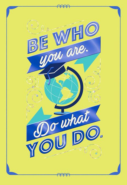 Be Who You Are Graduation Card Greeting Cards Hallmark