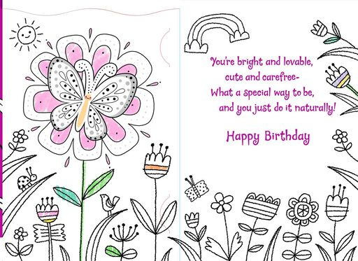 You're Bright and Lovable Niece Birthday Card,
