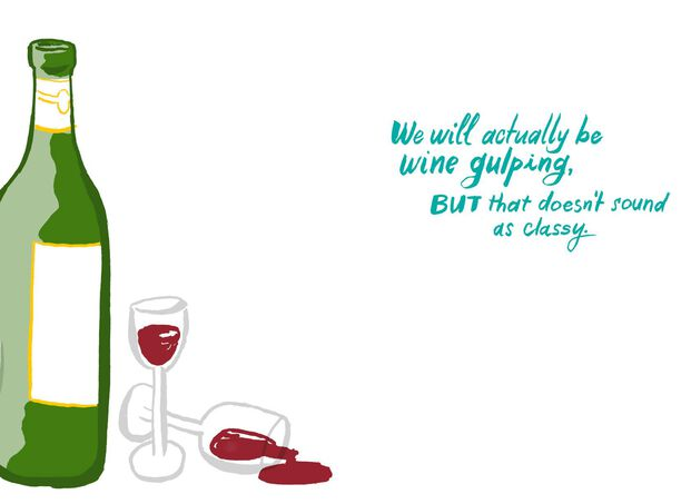 Lets Go Wine Tasting Funny Birthday Card
